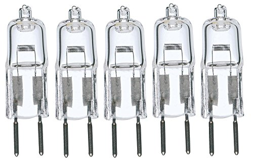 5pack - LSE Lighting G6.35 12V 50W Halogen Bulb JC Bi-Pin Light (50 Watt Bi Pin)