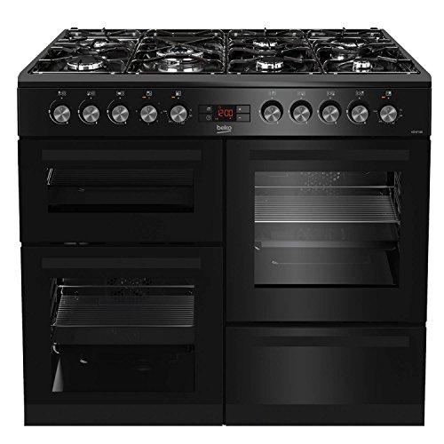 Beko KDVF100K A Rated 100cm Dual Fuel Range Cooker in Black 7 Hotplate...