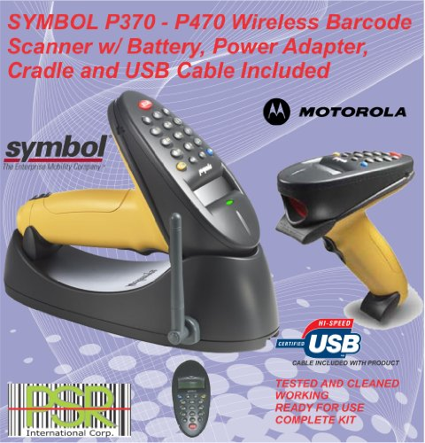 (Symbol phaser P370 17 keys wireless industrial barcode scanner kit USB)