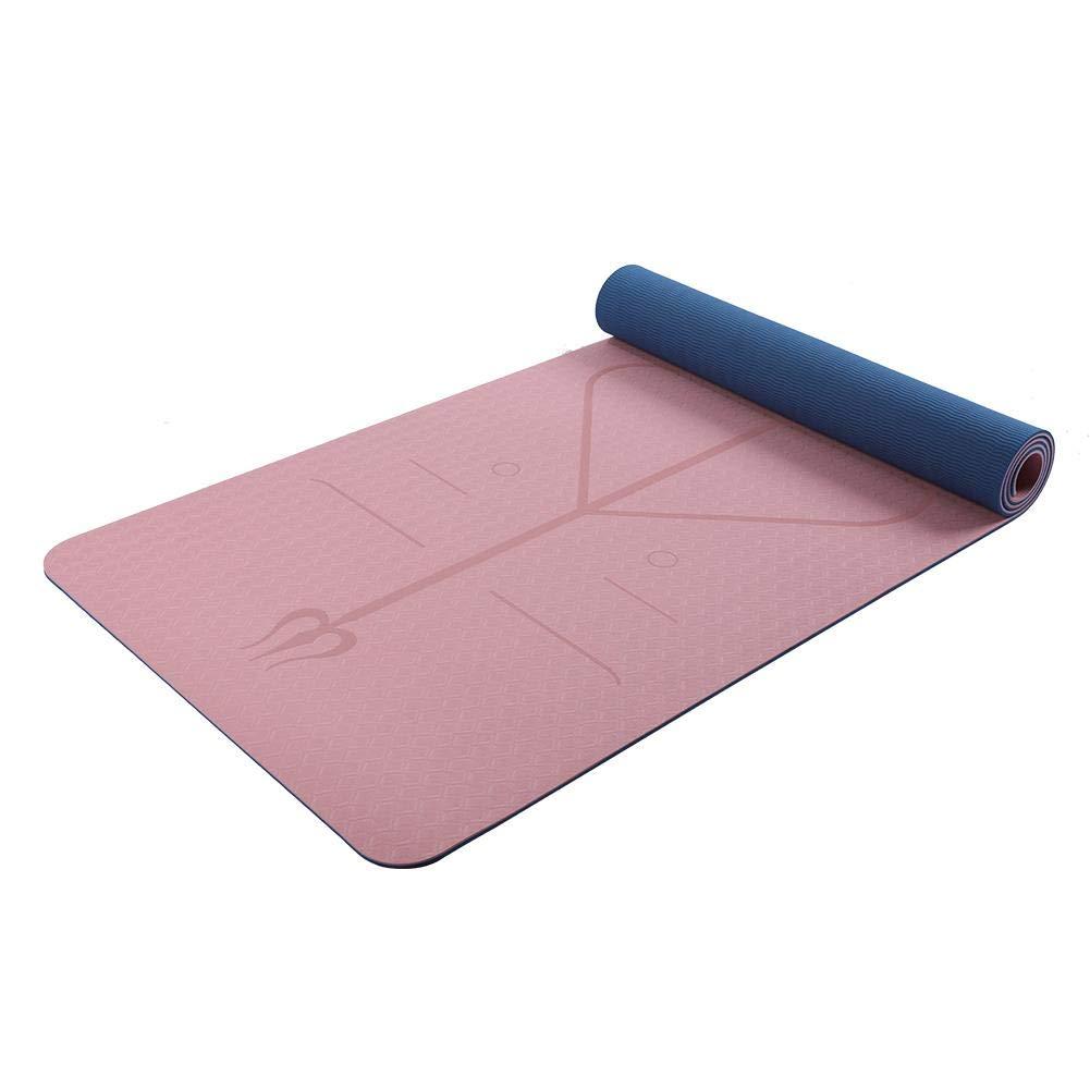 Tapis de Yoga Fitness Double Couche Anti-dérapant pour Femme - Tapis de Yoga éco-fit, Facile à Nettoyer et Absorbant Rapidement la Transpiration Facile à Nettoyer et Absorbant Rapidement la Transpiration forestwood