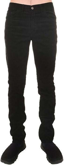 Men/'s 60/'s Indie Mod Retro Vintage Brown Corduroy Slim Skinny Fit Jeans