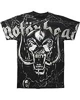 Global Merchandising Motorhead Dog Skull and Chains Allover T-shirt, Black