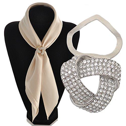 Maikun Round Rhinestone Brooch Scarf Ring Gift for Valentine's Mother's Day by Maikun (Image #3)
