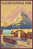Many Glacier Hotel - Glacier National Park (24x36 Giclee Gallery Print, Wall Decor Travel Poster)