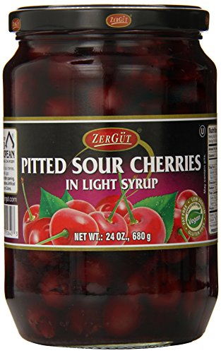 Zergut Pitted Sour Cherries in Syrup, 24 Ounce