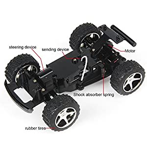 RC Truck, Dazhong Wltoys 2.4GHz 5 CH High-speed Remote Control RC Car with Scale Black