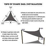 Shade&Beyond Sun Shade Sail Triangle 20'x20'x20' UV