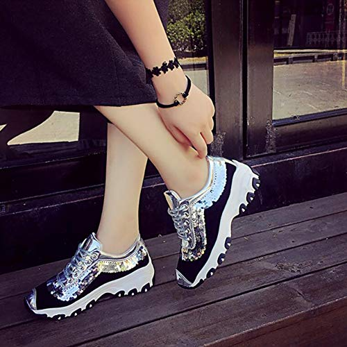 Size Fall Comfort Camping Impact Fashion Rubber Trainers and Recycled 35 Shoes Breathable Shoes Sneakers Spring A Color Summer Gym Park Athletic Sneaker Women's Mesh A Leather Resistant 1qSn7z5