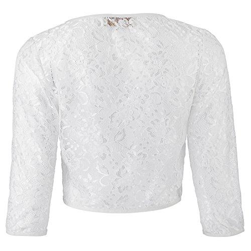 Kate Kasin Short Crochet Bolero Floral Lace Cardigan Top for Women (White, 2XL) KK430-2 by Kate Kasin (Image #1)