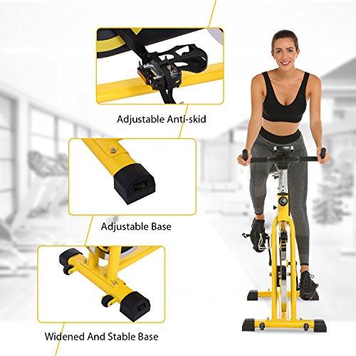 ANCHEER Indoor Cycling Bike, Belt Drive Indoor Exercise Bike with 49LBS Flywheel (Yellow) by ANCHEER (Image #8)
