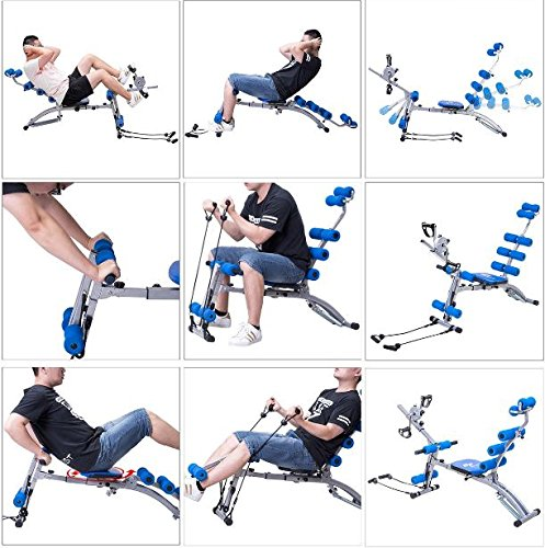 K&A Company Multi Functional Twister AB Rocket Abdominal Trainer Bench Stepper New Gym Exercise Fitness Blue