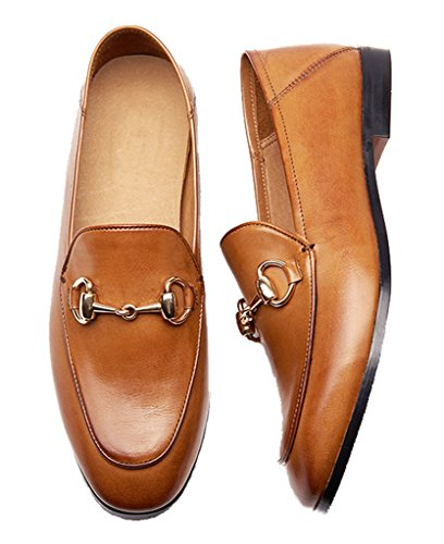 Shoes and Horsebit Mule Leather Loafer Detailed Women's Brown Shoes lite U BqYTUU