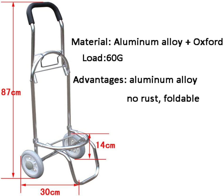 Color : A, Size : 8735CM DNSJB Two-Wheel Aluminum Alloy Ultra-Light Portable Folding cart is Practical and Convenient to fold