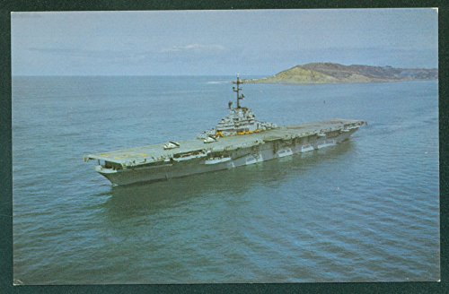 USS PRINCETON CVS-37 Anti-Submarine Support Aircraft Carrier ESSEX Postcard