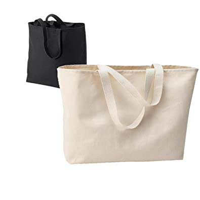 Amazon.com: OVERSIZED FULL GUSSET CANVAS TOTE BAG WHOLESALE PRICE ...