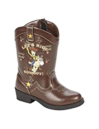 Disney Toy Story Light Up Woody Cowboy Boots Toddler Boys