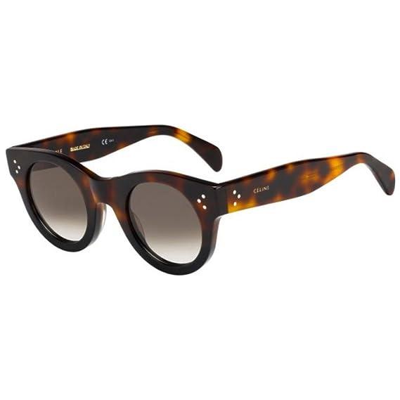 5af84eff044 Celine Celine 41425 S AEA Black Havana 41425 S Round Sunglasses Lens  Category 3 Size 4  Amazon.in  Clothing   Accessories