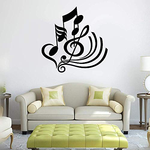Musical Mural - Bluegiants Wall Art Decor Decals Removable Mural Musical Notes for Living Room Bedroom Music Room