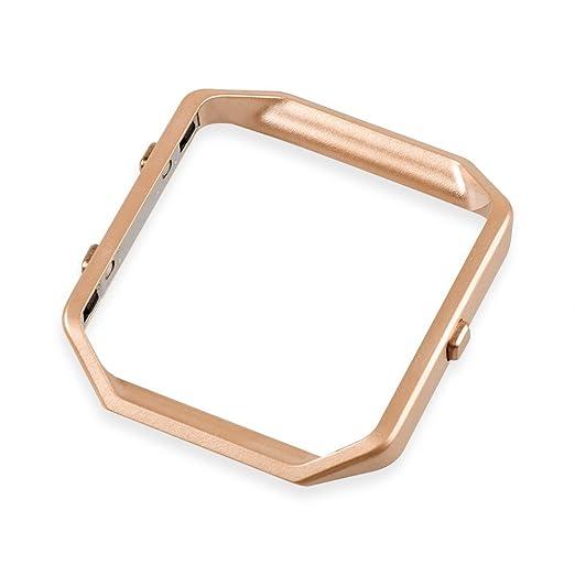 1 opinioni per Wearlizer Telaio di ricambio metallico in acciaio inox per Fitbit Blaze- Oro
