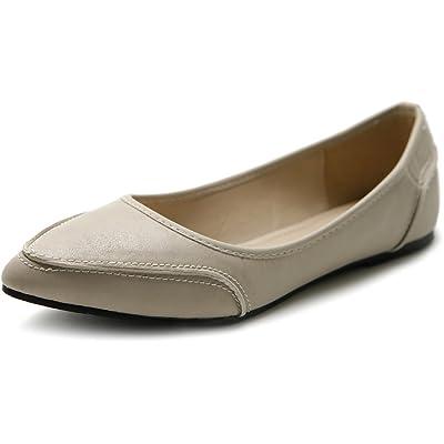 Ollio Women's Shoe Ballet Pointed Toe Pastel Low Flat | Flats