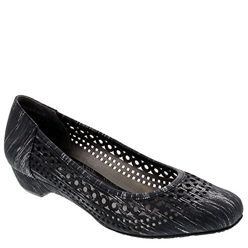 Ros Hommerson Tina Women's Casual Shoe: Black/Print 8.5 X-Wide (2E) Slip-on