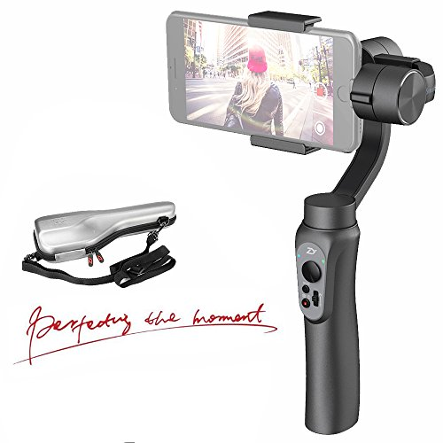 Zhiyun Smooth-Q 3-Axis Handheld Gimbal Stabilizer for Smartphone Like iPhone X 8 7 Plus 6 Plus,Samsung Galaxy S7 S6,Featuring APP Control,Wireless Control Vertical Shooting (Smooth Q Black)