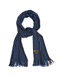 Rio Terra Knit Deep Blue & Ocean Turquoise Pinstipe Men's Warm Winter Scarf - Long