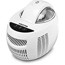 Gourmia GSI480 Automatic Ice Cream Maker with Internal Cooling System - No Pre Freezing Needed, Makes Hard & Soft Serve Ice Cream, Gelato, Sorbet & Frozen Yogurt Includes Free Recipe Book - 2.1 Pints