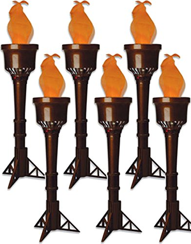 Olympic Torch Costume (Set of 6 Electric Faux-Flame Battery Operated Torches)