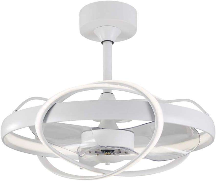 Ventilador de techo con lámpara, LED luz del ventilador,Función inversa, 6 Velocidades, con Control remoto inteligente, 100 W Lámpara de techo para sala de estar del dormitorio (Blanco)