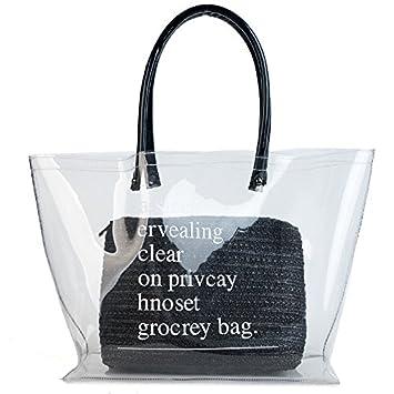 Bolso de plástico transparente de playa, grande, para mujer ...