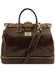 Tuscany Leather Barcellona Double-bottom Gladstone Leather Bag