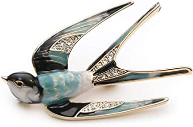 Fashion Unisex High Quality Enamel Swallow Bird Brooch Animal Lapel Pin Trinket