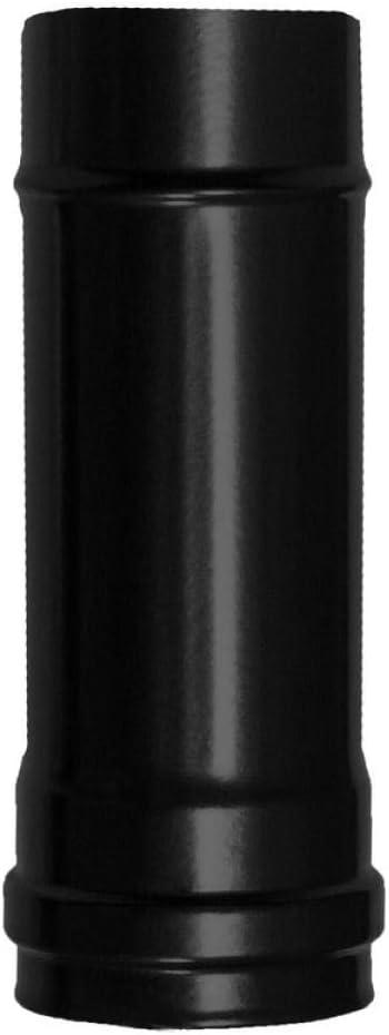 WOLFPACK LINEA PROFESIONAL 22013010 Wolfpack Tubo Acero Negro Longitud Estufas de Leña, Chimenea, Alta resistencia, Vitrificado Pellet, Ø 80 mm. 25 cm