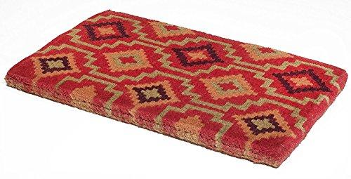 Handwoven, Extra Thick Doormat |  Entryway Door mat For Patio, Front Door | Decorative All-Season | Lhasa Kilim | 18