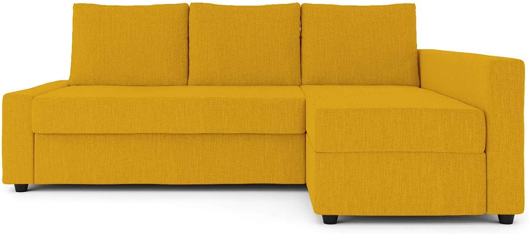 Friheten Slipcover for The IKEA Friheten with Chaise Corner Cover, Sofa Bed Cover, Sectional Slipcover Replacement (Yellow)