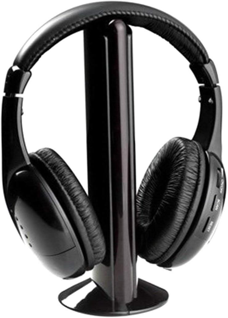 tiefe Bass GLOW 5 in 1 Wireless Kopfh/örer FM Radio und Mikrofon f/ür TV PC Gaming Handy Audio MP3 Musik Film kabellos /über Ear Headset mit starker 8m Signalreichweite satte Sounds
