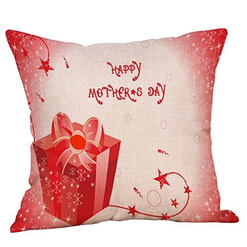 Littay Pillowcase 18inch x 18inch,Happy Mothers' Day Pillow Cases Sofa Cushion Cover Home Decor Pillow Case -