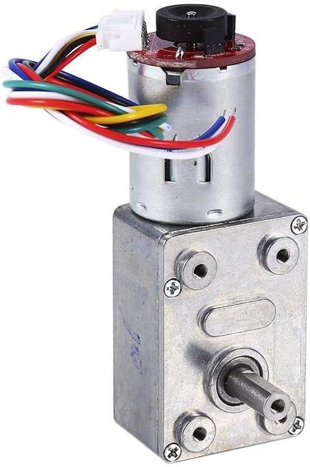 Motor de CC - Caja de Engranajes helicoidales de reducción de Motor de Alto par eléctrico con codificador Srong Autoblocante CC 12V(10RPM)