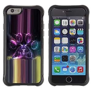 All-Round híbrido Heavy Duty de goma duro caso cubierta protectora Accesorio Generación-II BY RAYDREAMMM - Apple iPhone 6 - Universe Portals Parallel Purple Space