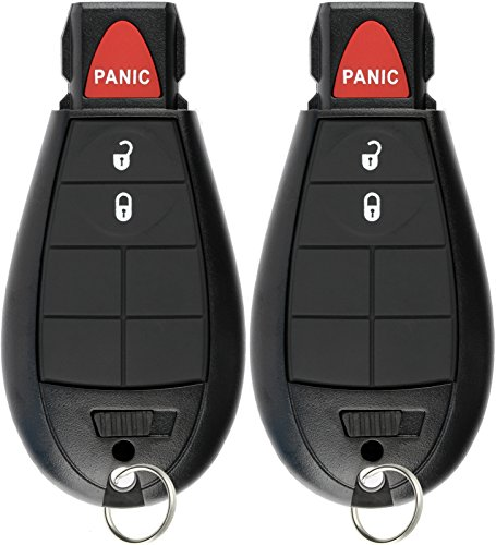 - KeylessOption Keyless Entry Remote Control Car Key Fob Starter Clicker for Dodge Chrysler Jeep (Pack of 2)