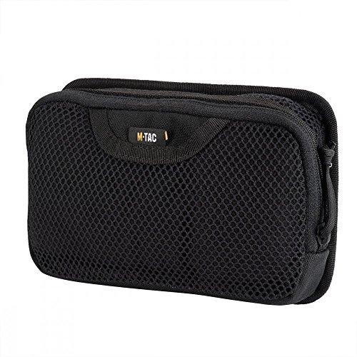 M-Tac Tactical Bag Insert Modular Organizer Utility Admin Pouch Hook Fasteners - Mesh Pocket (Black)