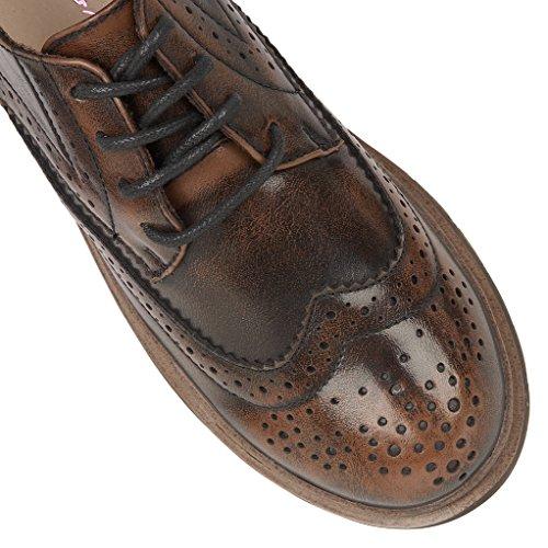 DolcisLuca - Zapatos de Vestir mujer marrón