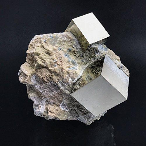 Pyrite Cube on Basalt From Navajun, Spain - PB6 by Astro Gallery Of Gems
