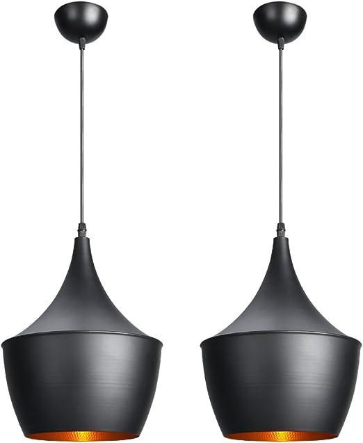 2er Industrie Hängelampe Retro Hänge Leuchte Pendelleuchte Deckenlampe Metall DE