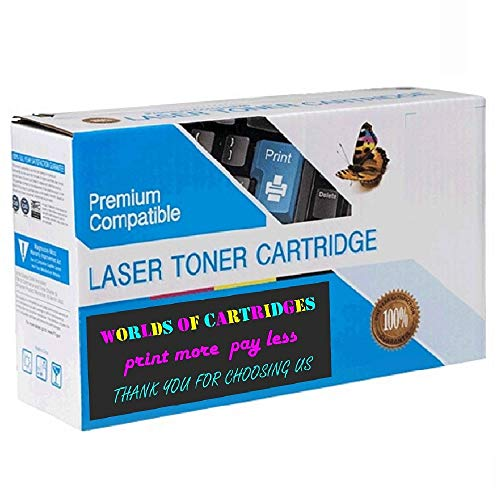 WORLDS OF CARTRIDGES Remanufactured Toner Cartridge Replacement for Dell 310-3543/310-3544/310-3545 (Black) for Use in Laser P1500 ()