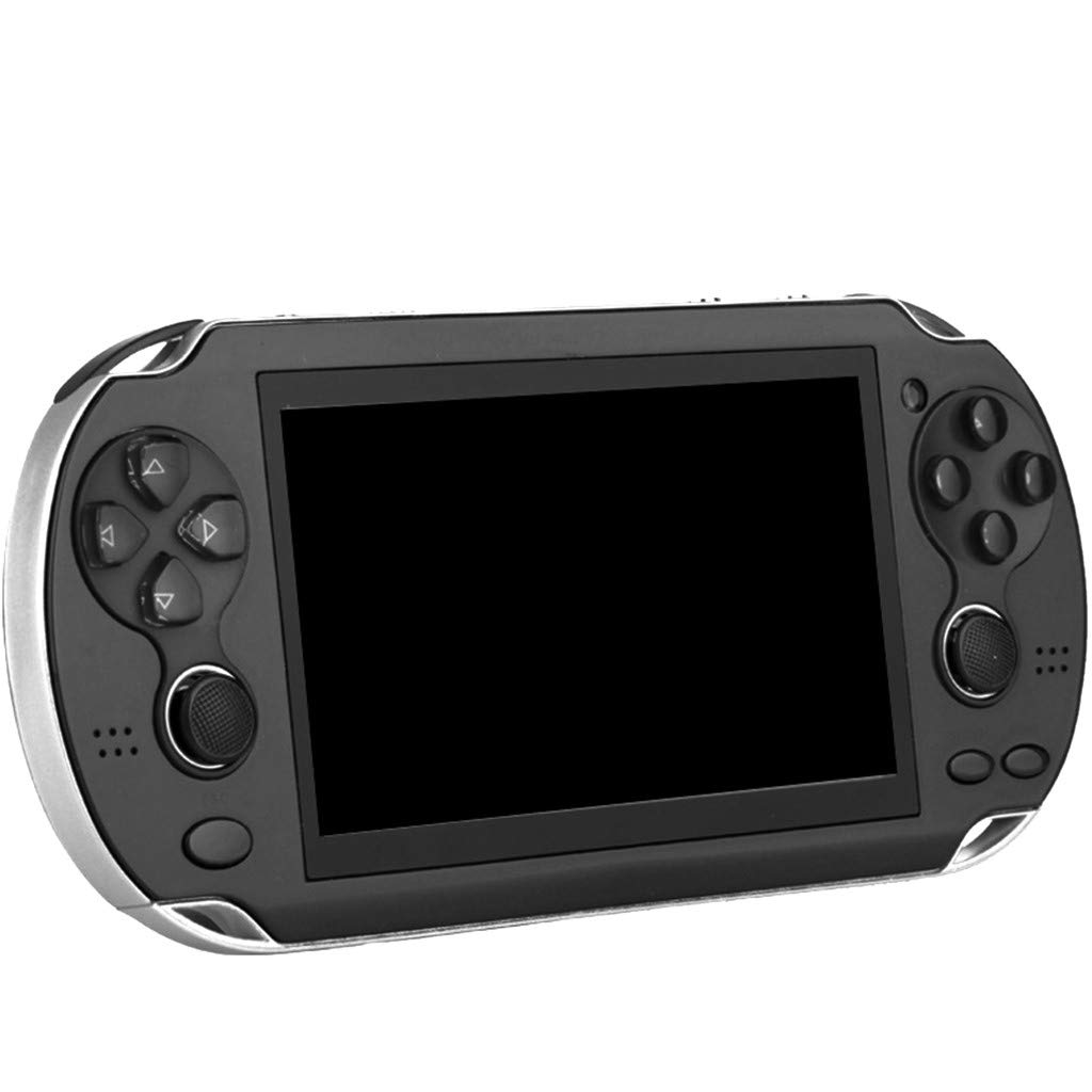 Huangou PSP Games,Retro Classic Game Console Handheld Portable 800 Built-in 4.3 Inch Games (Black, 11.5 x 8.5 x 9cm)