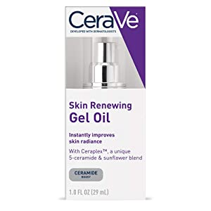 CeraVe Gel Oil | 1 Ounce | Anti Aging Gel Serum for Face to Boost Hydration | Packaging May Vary