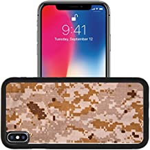 Luxlady Apple iPhone x iPhone 10 Aluminum Backplate Bumper Snap Case IMAGE ID: 40328962 Desert digital camouflage fabric texture