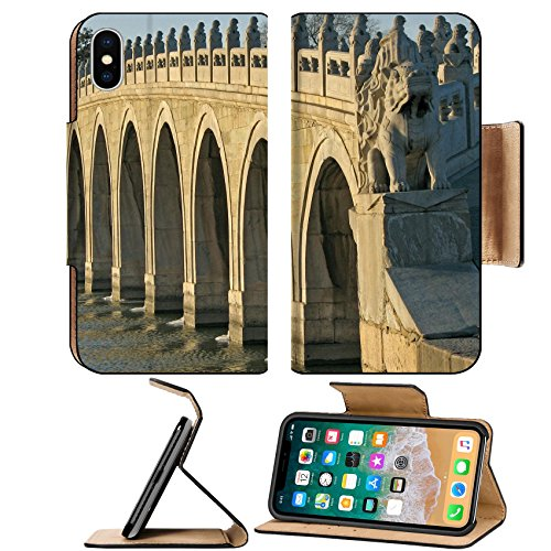 Lions Arch - MSD Premium Apple iPhone X Flip Pu Leather Wallet Case IMAGE ID: 3339823 This is the Famous 17 arch lion bridge in the Summer Palace outside of Beijing China